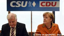 Angela Merkel und Horst Seehofer (Getty Images/AFP/C. Stache)