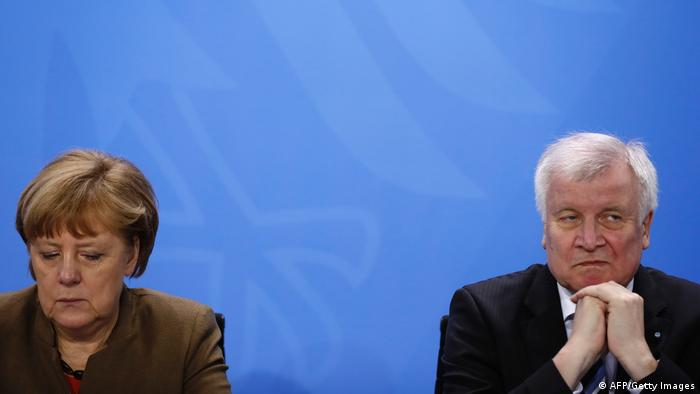 Angela Merkel and Horst Seehofer (AFP/Getty Images)