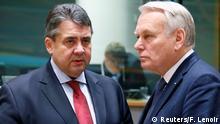 Belgien Sigmar Gabriel und Jean-Marc Ayrault in Brüssel