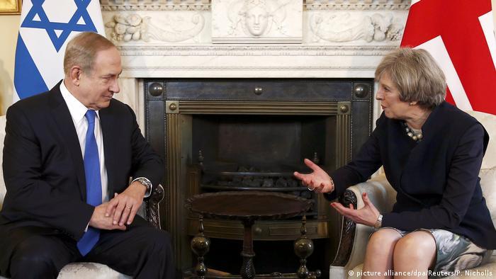 Theresa May Benjamin Netanjahu