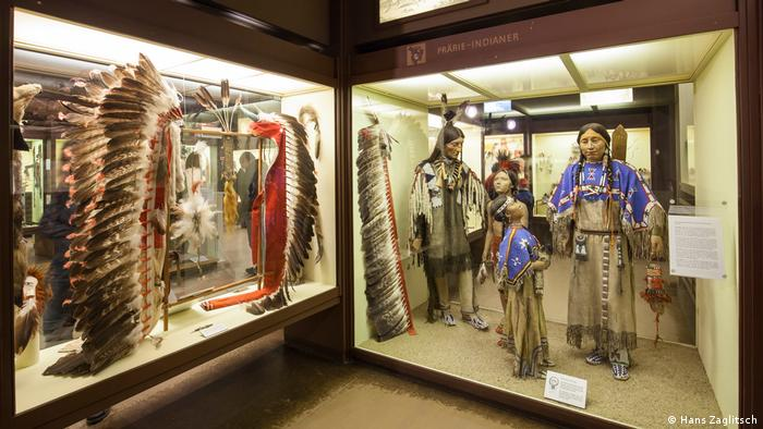 Headdresses and US Indigenous-themed exhibits at the Karl May Museum
