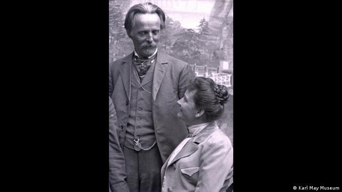 Karl May and Klara Plöhn (Foto: Karl May Museum)