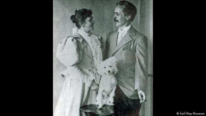 Karl May and Emma Lina Pollmer (Foto: Karl May Museum)