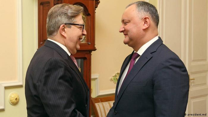 Igor Dodon și Pirkka Tapiola la Chișinău
