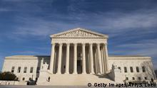The US Supreme Court is seen in Washington, DC, on January 31, 2017. President Donald Trump was poised Tuesday to unveil his pick for the US Supreme Court, a crucial appointment that could tilt the bench to conservatives on deeply divisive issues such as abortion and gun control. Trump's choice aims to fill a vacancy left by the sudden death of conservative justice Antonin Scalia in February 2016, which left the highest US court with four conservative and four liberal justices. / AFP / SAUL LOEB (Photo credit should read SAUL LOEB/AFP/Getty Images)