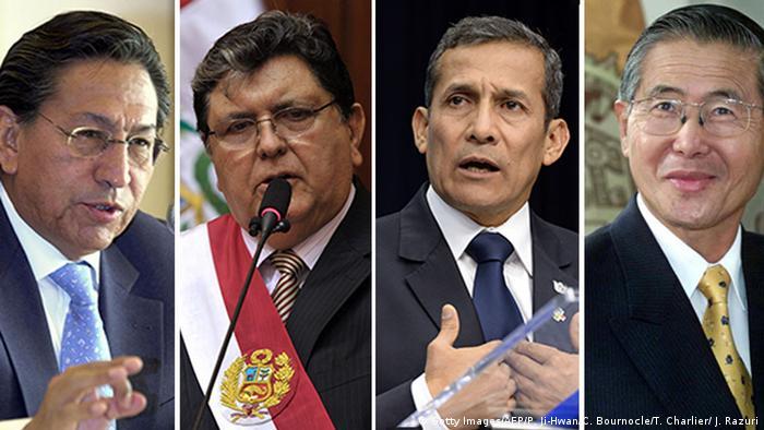 Quartett-Bild Alejandro Toledo - Alan Garcia - Ollanta Humala - Alberto Fujimori (Getty Images/AFP/P. Ji-Hwan/C. Bournocle/T. Charlier/ J. Razuri)