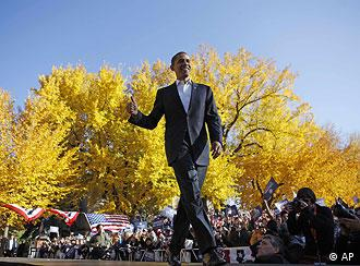 Obama beim Wahlkampf in Fort Collins (Quelle: AP)
