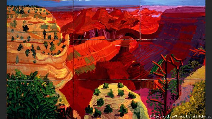 9 CANVAS STUDY OF THE GRAND CANYON 1998 | David Hockney (David Hockney/Photo: Richard Schmidt)