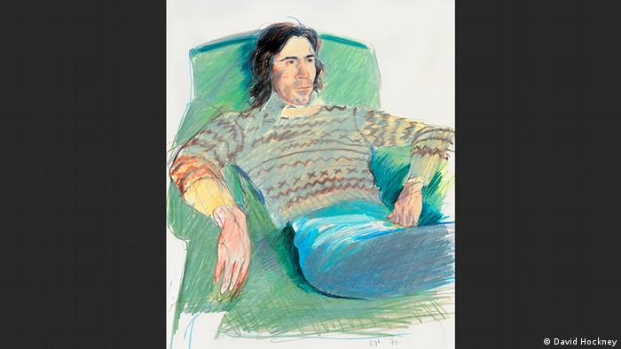 Ossie Wearing a Fairisle Sweater | David Hockney (David Hockney)
