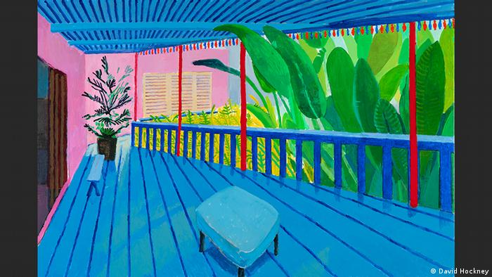 Garden with Blue Terrace   David Hockney