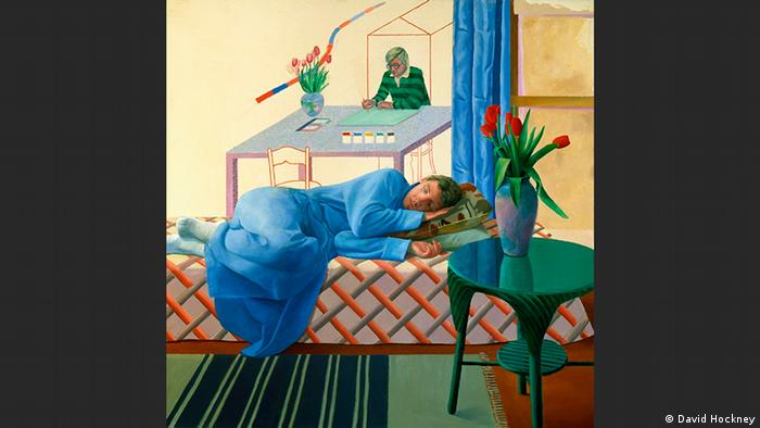 Model with Unfinished Self-Portrait | David Hockney (David Hockney)