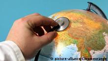 Globus mit Stethoskop | Verwendung weltweit