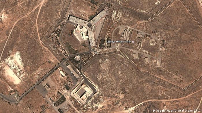 Syrien Militärgefängnis Saidnaja (Google Maps/Digital Globe 2017)