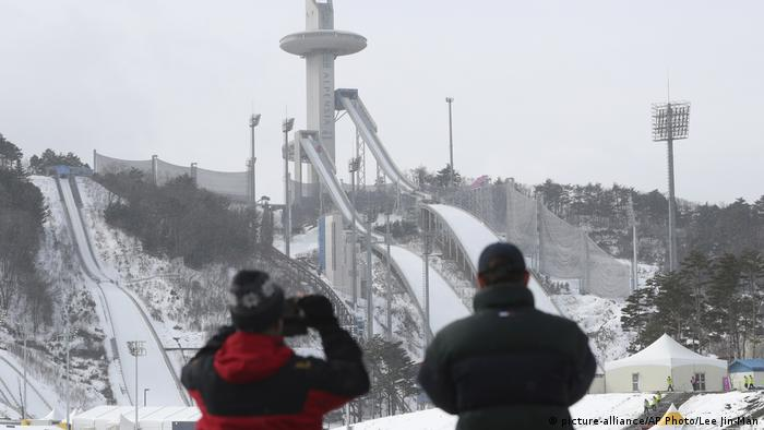 Südkorea Pyeongchang Olympische Winterspiele 2018 Vorbereitungen (picture-alliance/AP Photo/Lee Jin-Man)