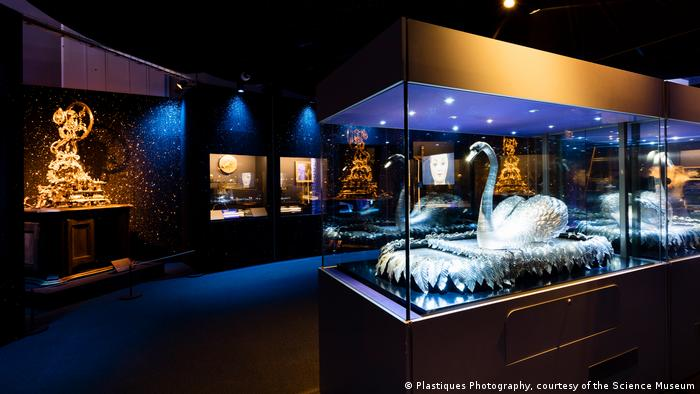 Marvel section of Robots exhibition, including Silver Swan (Plastiques Photography, courtesy of the Science Museum)