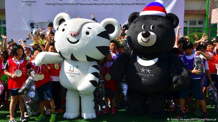 Südkorea Maskottchen Olympische Winterspiele 2018 in Pyeongchang