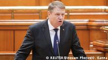 Klaus Iohannis in Parlament (REUTERS/Inquam Photos/O. Ganea)