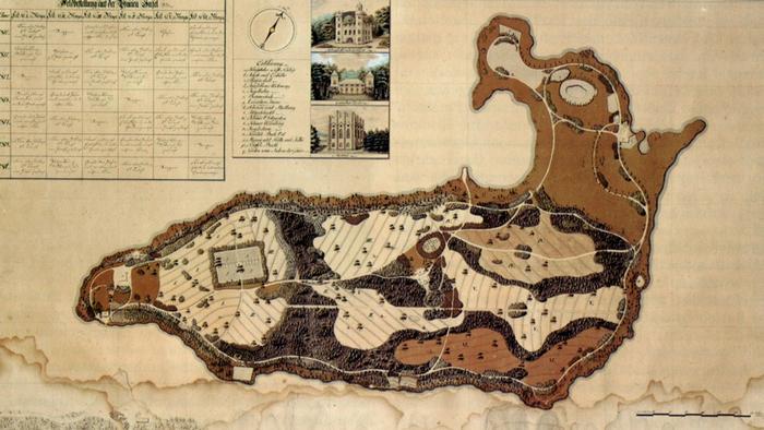 Карта Павилиньего острова, 1810 год