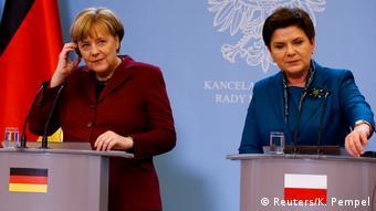 Polen Angela Merkel und Beata Szydlo in Warschau