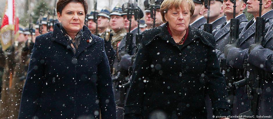 Szydlo recebeu Merkel em Varsóvia