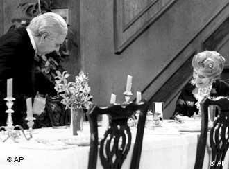 Freddie Frinton, left, and May Warden, in Dinner For One