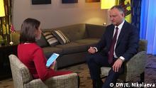 07.02.2017+++Brüssel, Belgien+++ DW-Moderatorin Zhanna Nemtsova im Interview mit dem moldauischen Präsidenten Igor Dodon