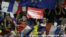 Frankreich Anhänger von Emmanuel Macron in Lyon