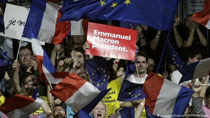 Supporters of Emmanuel Macron