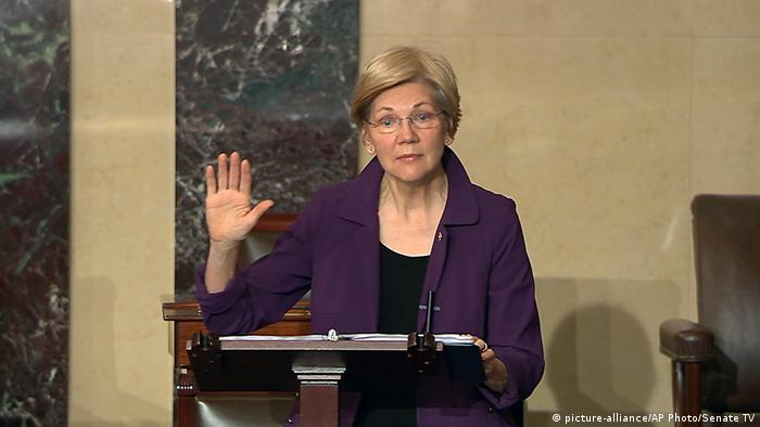 Elizabeth Warren (picture-alliance/AP Photo/Senate TV)