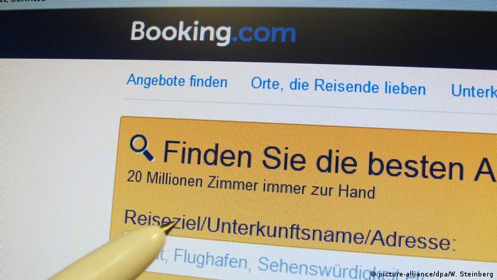 Αναζήτηση στη σελίδα Booking.com