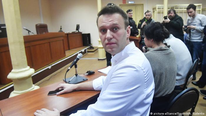 Russland Alexei Anatoljewitsch Nawalny vor Gericht (picture-alliance/Sputnik/A. Kudenko)