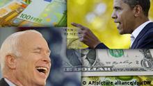 Symbolbild USA Geld Wahlkampf Obama McCain ausländische Unternehmen Copyright: AP/picture-alliance/dpa/DW