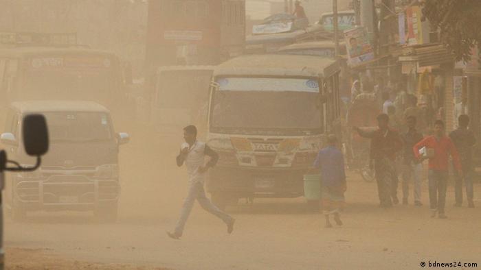 Bangladesch Dhaka - Luftverschmutzung (bdnews24.com)