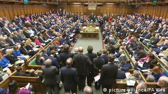 Britisches Unterhaus tagt über Brexit-Gesetz, Totale (picture-alliance/PA Wire)