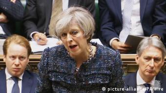 Britisches Unterhaus tagt über Brexit-Gesetz, May (picture-alliance/PA Wire)