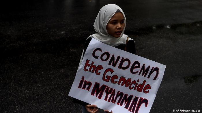 Symbolbild Gewalt gegen die muslimische Rohingya-Minderheit in Myanmar (AFP/Getty Images)