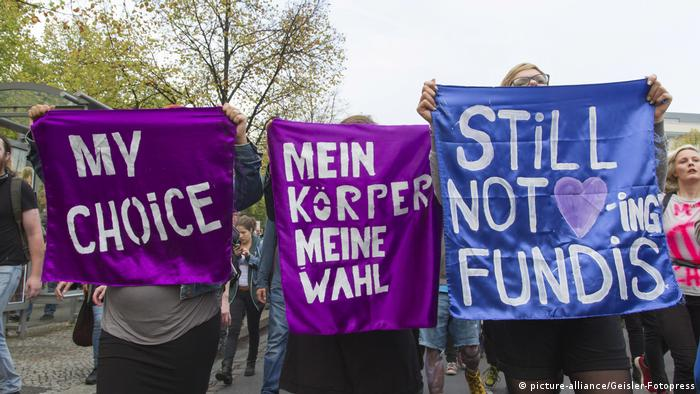 Women demonstrate for abortion rights in Berlin