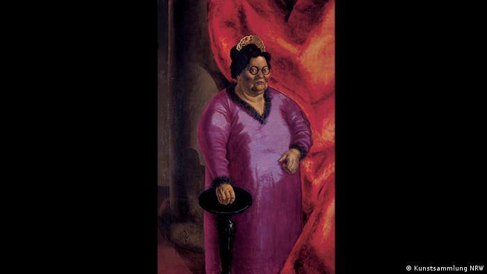 Otto Dix – Der böse Blick (K20, 11.02. – 14.05.2017)- Bildnis der Kunsthändlerin Johanna Ey, 1924 (Kunstsammlung NRW)
