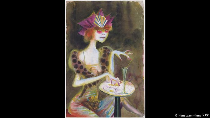 Otto Dix – Der böse Blick (K20, 11.02. – 14.05.2017)- Mieze, abends im Café, 1923 (Kunstsammlung NRW)
