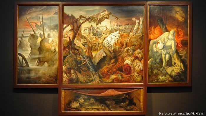 Deutschland Sonderausstellung zu Otto Dix der Staatlichen Kunstsammlungen im Albertinum - Triptychon Der Krieg (1932)