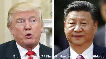 Kombobild Donald Trump und Xi Jinping (picture-alliance/AP Photo/P. Martinez Monsivais/L. Hidalgo)