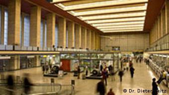 Interior of Tempelhof airport terminal