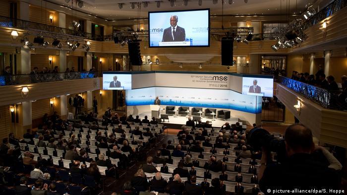 Abschluss 52. Münchner Sicherheitskonferenz 2016 (picture-alliance/dpa/S. Hoppe)
