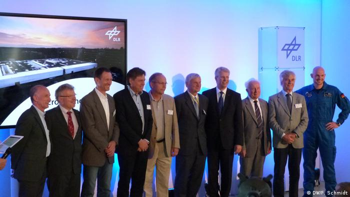 Meeting of all living German astronauts at the newly opened medical research center DLR-Envihab in 2013