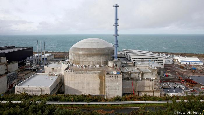View of the construction site of the nuclear reactor in Flamanville, France