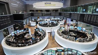 Вид торгового зала Франкфуртской биржи
