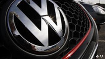 Volkswagen logo on car