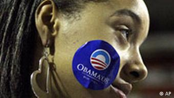 A supporter of Democratic presidential candidate Sen. Barack Obama, D-Ill., listens to his speech at the Mellon Arena in Pittsburgh