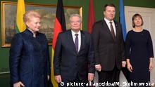 Lettland Riga Besuch Joachim Gauck