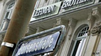 A Lehman Brothers Bank branch in Frankfurt